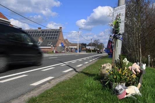 De plaats van het ongeval: de Stationsstraat.