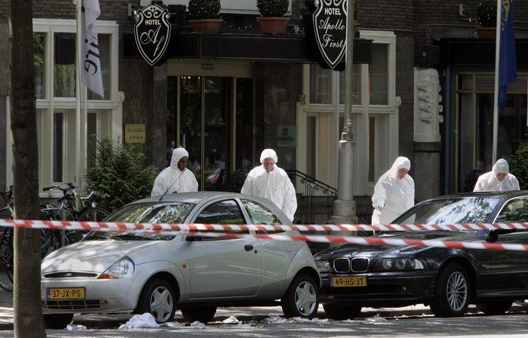 Hier, in Amsterdam, werd Endstra in 2004 neergeschoten. Hij overleed in het ziekenhuis aan zijn verwondingen. Beeld anp