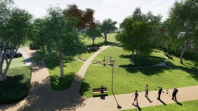 Het Wilhelminaplein en het park Vredeoord worden aaneengeregen tot één geheel.