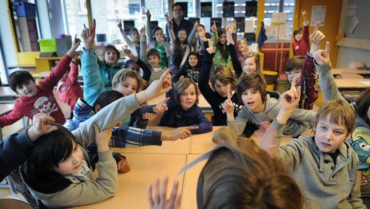 Groep 6 van Sint Joseph in Breda. Beeld Marcel van den Bergh / de Volkskrant