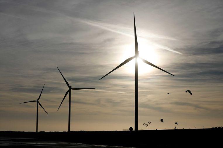 Windmolens bij windpark Slufterdam. Beeld ANP