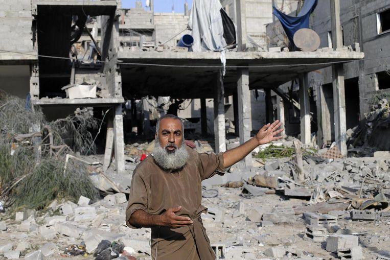 Verwoeste huizen in Rafah. Beeld reuters