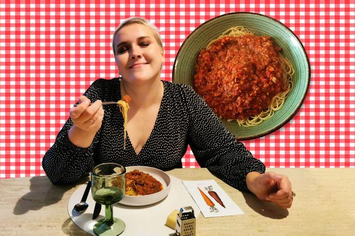 Lara Laporte ging spaghetti proeven bij Carlito in het West-Vlaamse Tielt.