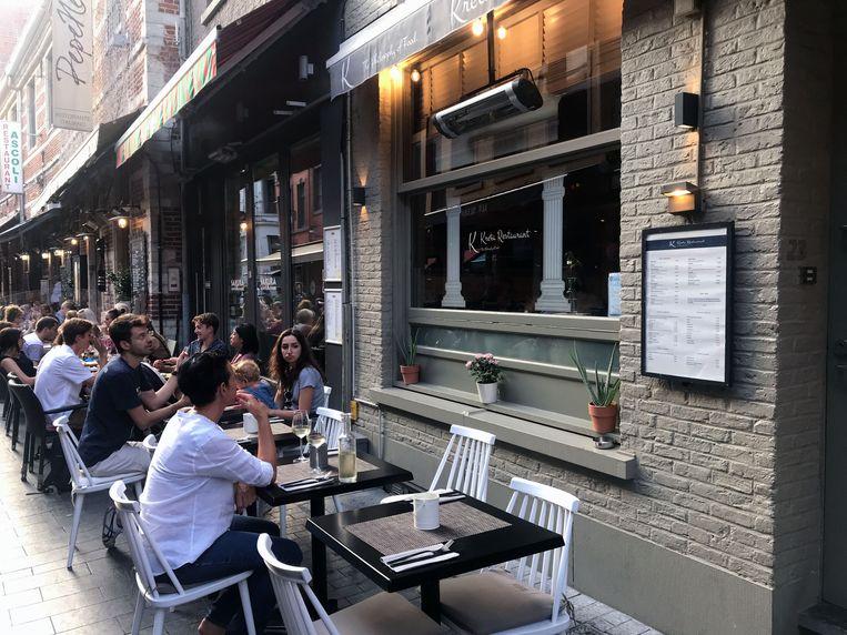 Restaurant Kreta in de Muntstraat in Leuven.