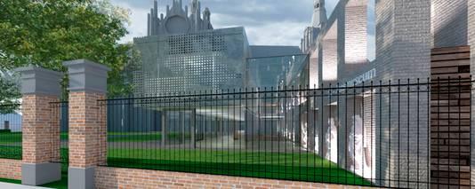 Toegangspoort naar het nieuwe Sint-Jansmuseum.