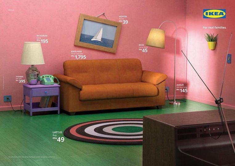 De woonkamer van The Simpsons