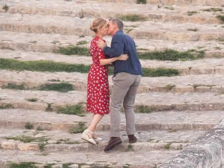 Le baiser de Daniel Craig et Léa Seydoux sur le tournage du nouveau James Bond