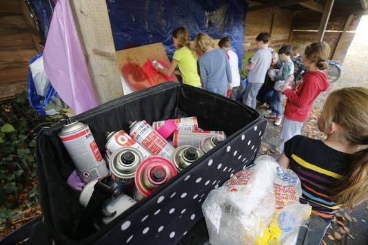 Kinderen van kinderopvang de Bilt krijgen een graffiti workshop