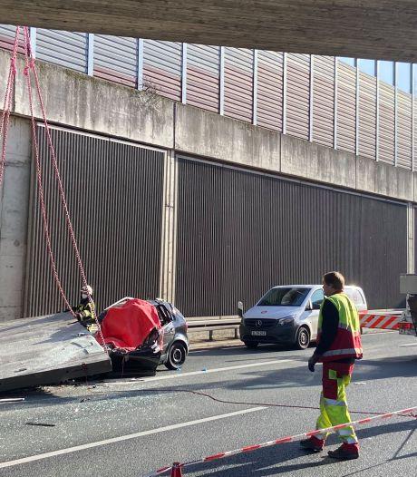 Vrouw overleden door 5 ton wegende betonnen plaat op Duitse snelweg