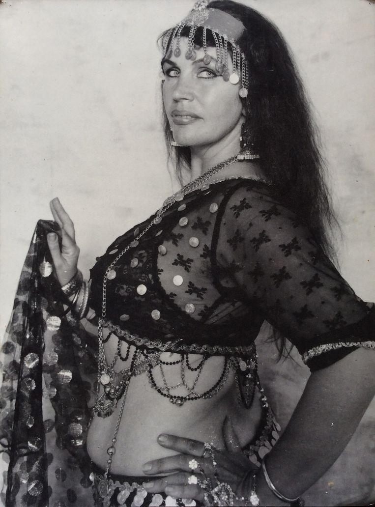 Jacoba Haas als buikdanseres in de jaren tachtig Beeld Jacoba Haas