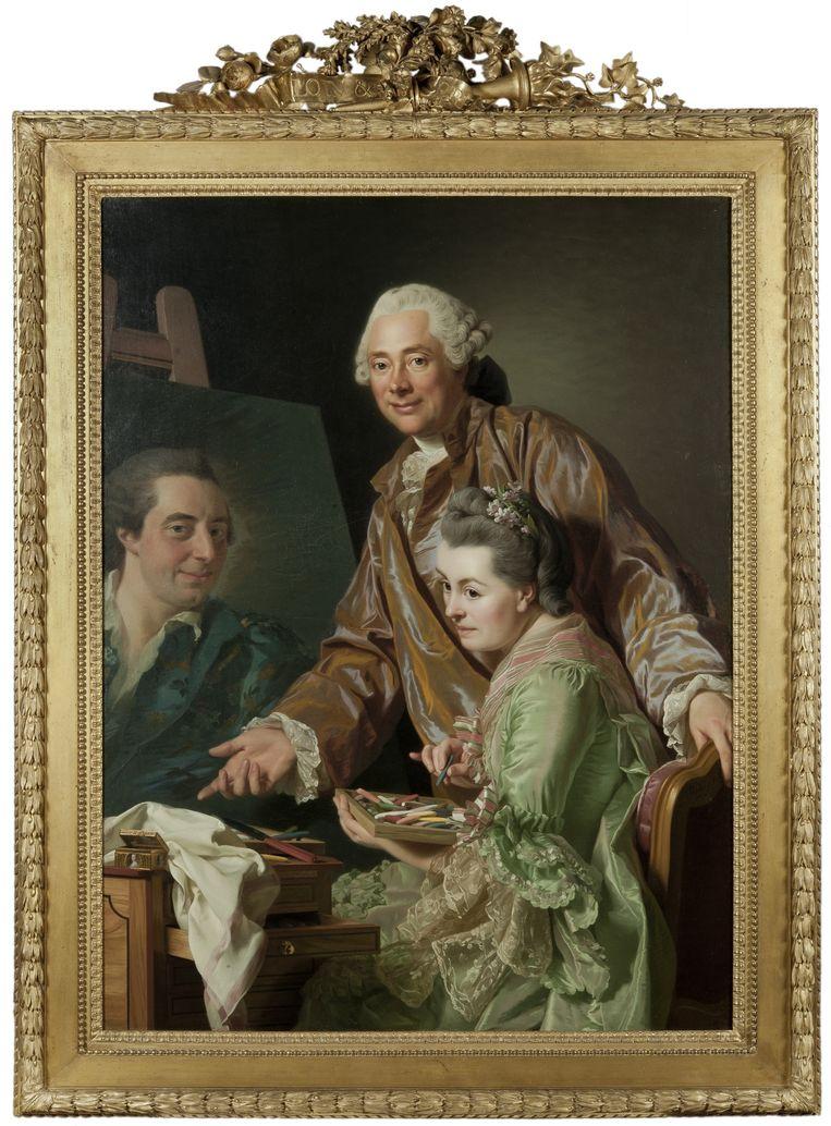 Roslin 1767, Roslin en zijn vrouw Mari Suzanne Giroust, schilderen Peill's portrait, Beeld