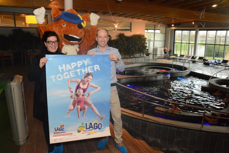 Centrummanager Roel Timmermans en schepen van Sport Katrien Claus mochten gisteren de nieuwe naam onthullen: Sport en Recreatie is vervangen door Lago.