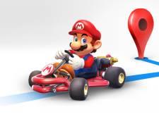 Super Mario scheurt deze week over de Nederlandse wegen bij Google Maps