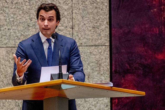 Thierry Baudet tijdens het Tweede Kamerdebat over het Klimaatakkoord