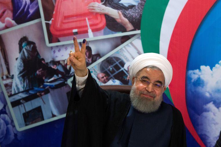 De Iraanse president Rohani in april 2017. Beeld Getty Images