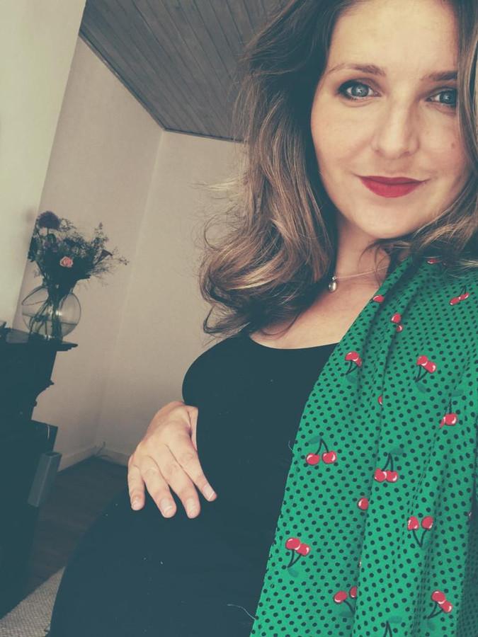 Michelle van Daalhoff is 35 weken zwanger