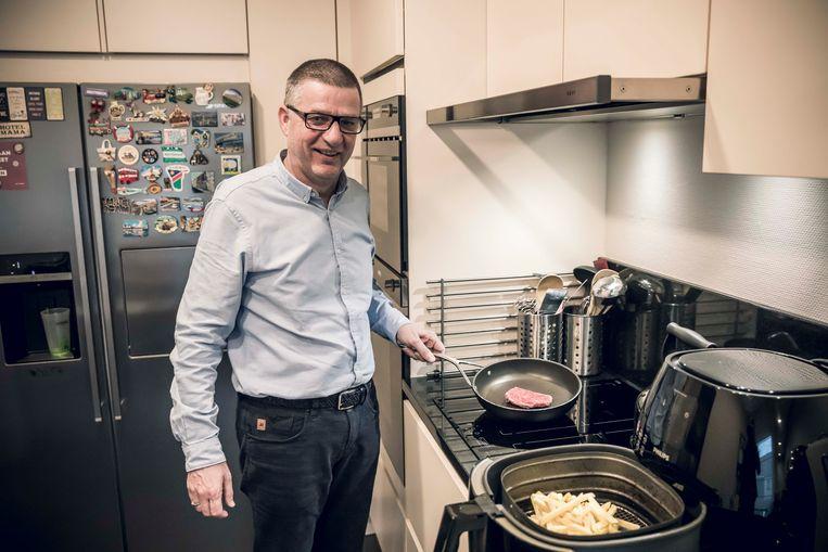 Hub Vermeulen eet elke dag frietjes met biefstuk.