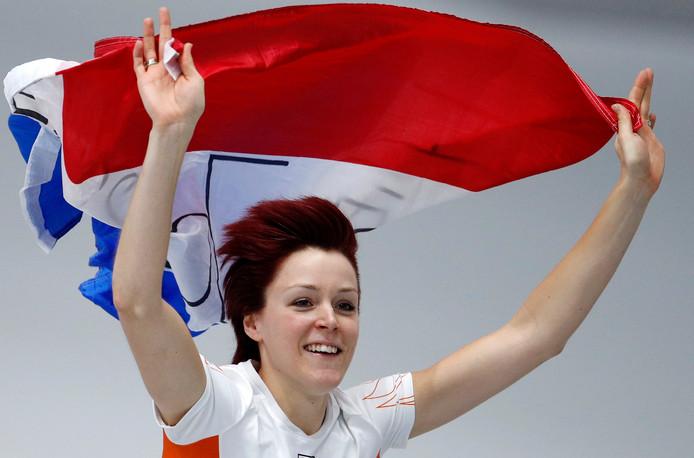 Jorien ter Mors viert haar zege op de 1000 meter