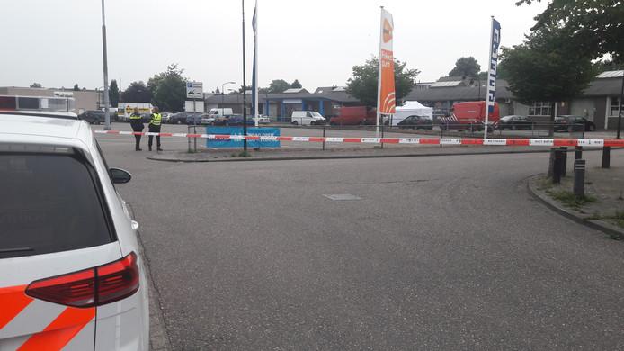 Politie bij de Bleekvelden in Geldrop.