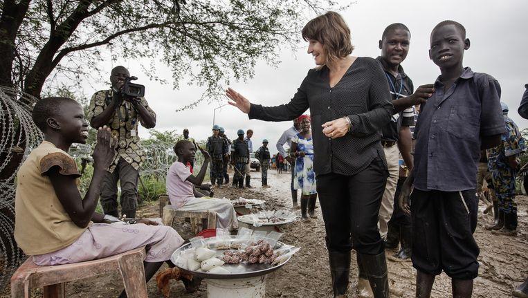 Minister Ploumen van Ontwikkelingssamenwerking bezoekt Zuid-Soedan. Beeld Daniel Rosenthal
