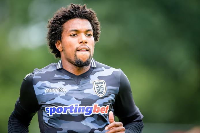 PAOK speler Diego Biseswar, voorheen speler bij Heracles Almelo.