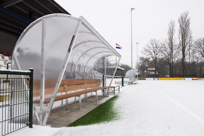 De opening van het vernieuwde sportpark van ODC ging begin januari niet door vanwege sneeuwval.