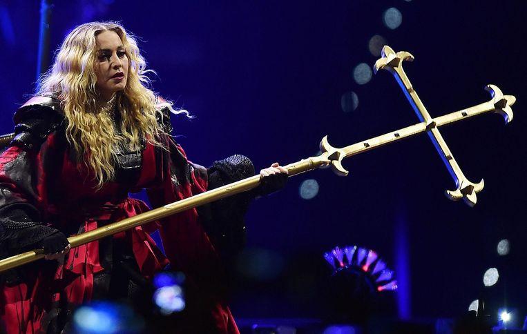 Madonna tijdens een optreden in Turijn. Beeld EPA