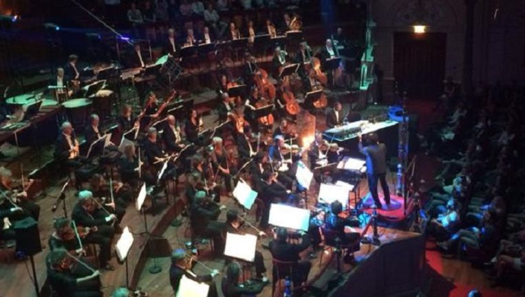 Jeff Mills in het Concertgebouw in Amsterdam. Beeld Josien Wolthuizen