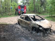 In Oosterhout gestolen auto uitgebrand teruggevonden in Helvoirt