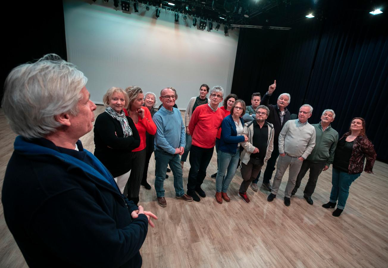 Repetitie van toneelvereniging de Narrekap in Best.