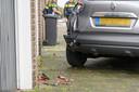 De bestuurder van de auto raakte gewond en moest naar het ziekenhuis.