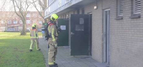 Brand in berging van flat aan Stieltjesstraat