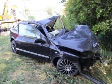 Automobilist (24) botst op boom en belandt in de sloot