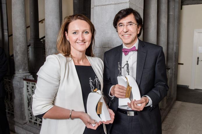 Gwendolyn Rutten, président de l'Open VLD, et Elio Di Rupo.