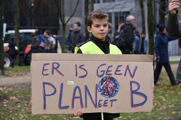 Ook in december trok er al een klimaatmars door de Brusselse straten.