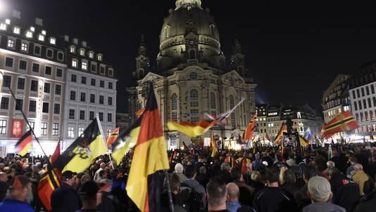 Pegida demonstreerde eerder deze week in de Duitse stad Dresden.