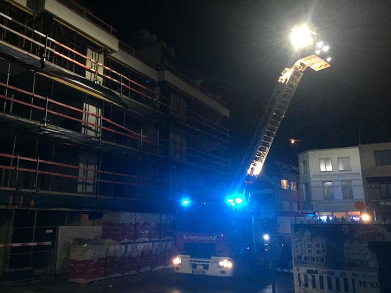De brandweer inspecteerde de werf.