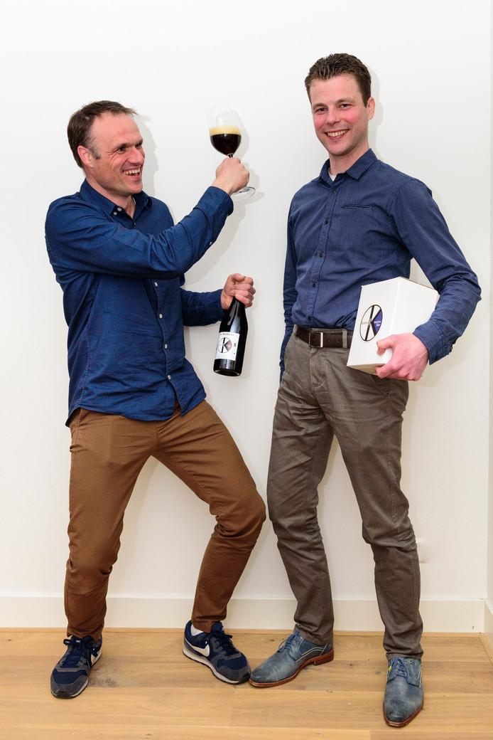 Dimitri Grossouw (links) en Gerbrant Brugman: ,,Meer Soesterkwartier in je bier ga je niet krijgen.''