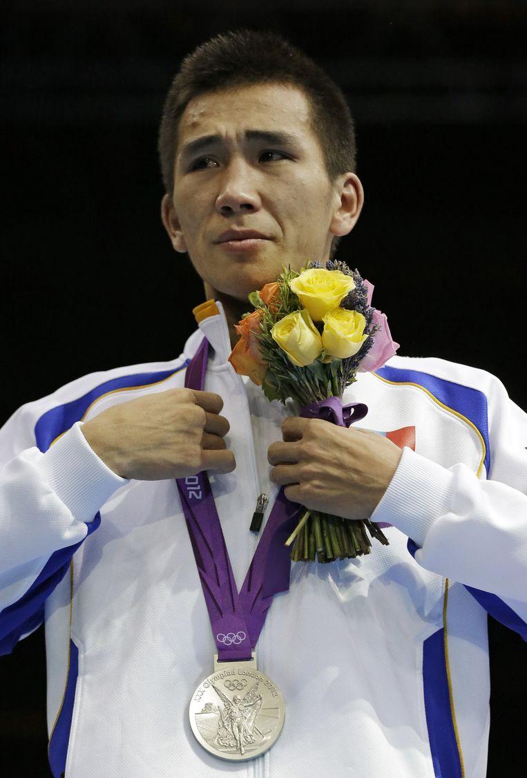 Tugstsogt Nyambayar behaalde zilver, maar is nog teleurgesteld dat hij naast het goud greep.