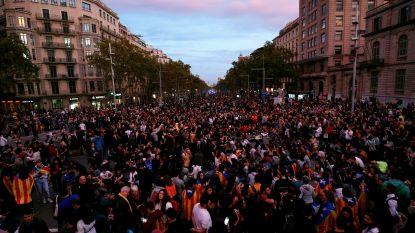Tienduizenden Catalanen opnieuw de straat op, hoogtepunt van protest volgt morgen