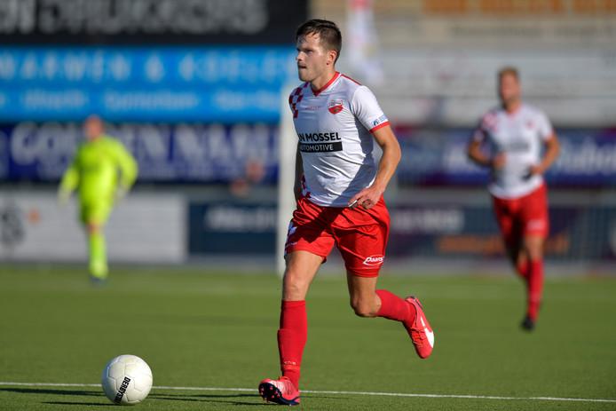 Linksback Mats van Huijgevoort maakte vorige week tegen AFC zijn rentree.