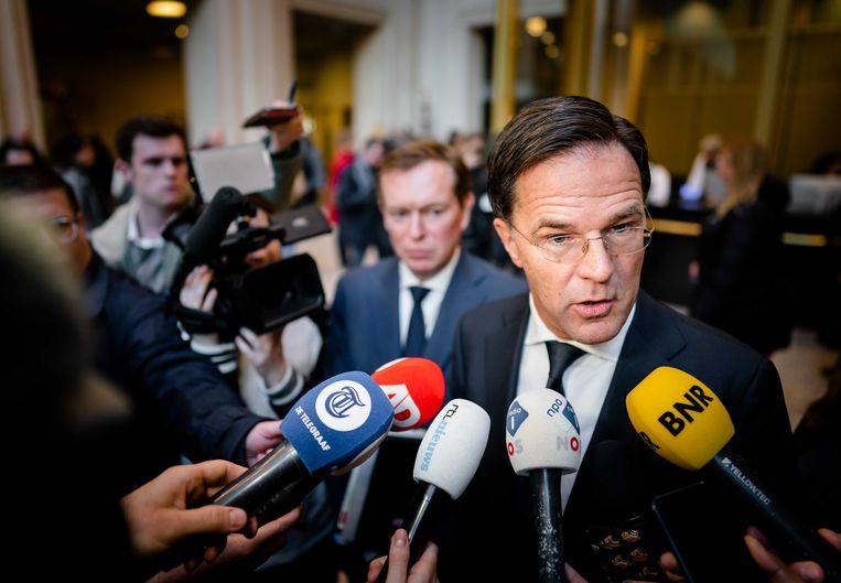 Minister Bruno Bruins en premier Mark Rutte. Beeld ANP