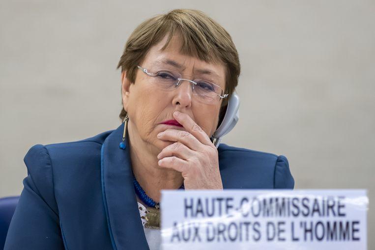 De Hoge Commissaris voor de Mensenrechten van de Verenigde Naties Michelle Bachelet.