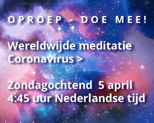 Wereldwijd gaan dit weekeinde duizenden mensen mediteren op hetzelfde tijdstip