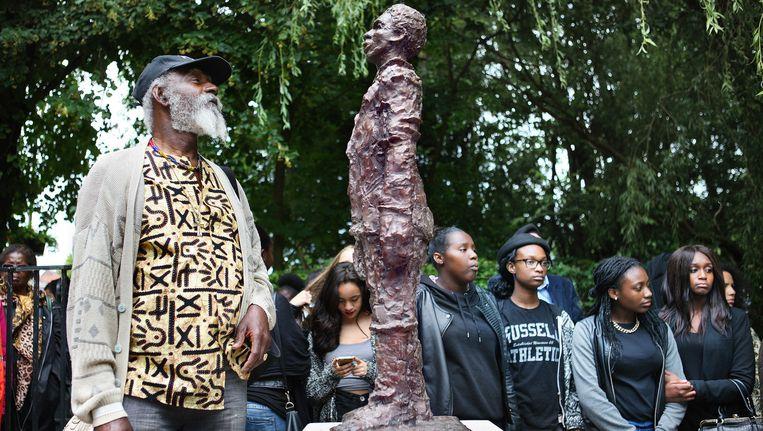 Het beeldje van Elieser, over wiens slavenbestaan nu wordt getwijfeld. Beeld Jean-Pierre Jans www.jeanpierrejans.nl