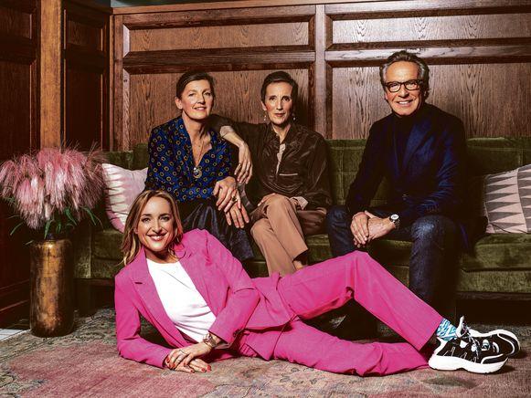 Van links naar rechts (boven)Karen Hendrix, Katrin Wouters,Edouard Vermeulenen vooraan Inge Onsea