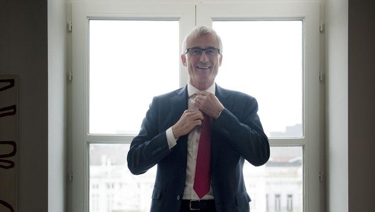 Bourgeois in zijn werkkamer, een neerlandofiel en `Vlaamse patriot'. Beeld An-Sifie Kesteleyn / de Volkskrant