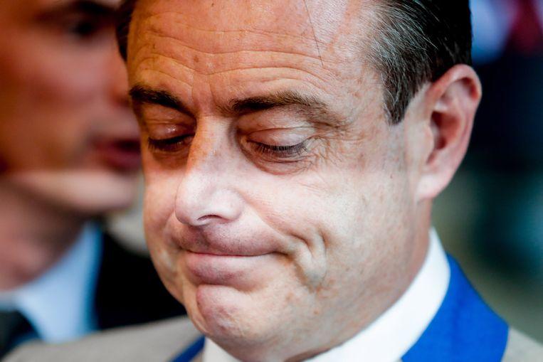 De partij van Bart De Wever heeft veel stemmen verloren aan Vlaams Belang, maar is nog wel de grootste van Vlaanderen.  Beeld EPA