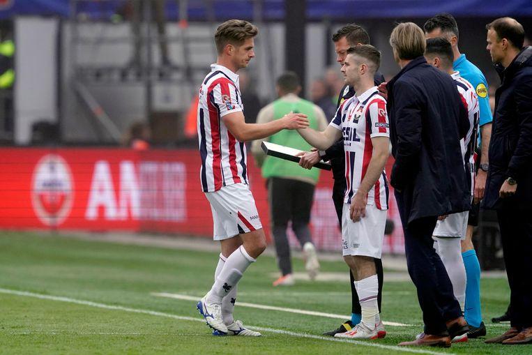 Jordens Peters werd tijdens de bekerfinale tegen Ajax gewisseld. Beeld BSR Agency