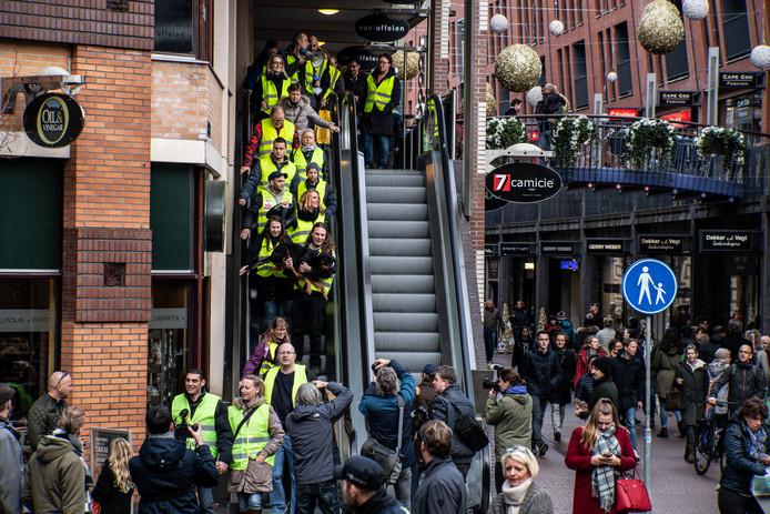 Demonstratie Gele Hesjes afgelopen zaterdag in Nijmegen.